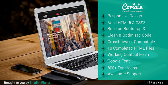 Corlate Responsive Bootstrap Business Template
