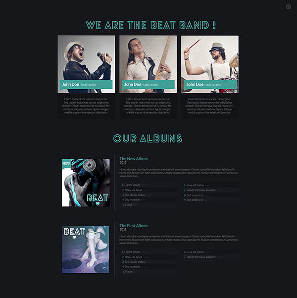 Beat One Page Music Amp Band Joomla Template By