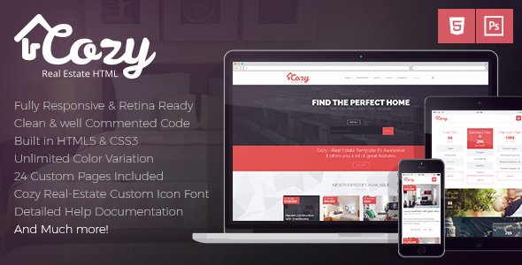 Cozy - Responsive Real Estate HTML Template - Business Corporate