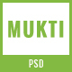 MUKTI - One Page Multipurpose PSD Template - ThemeForest Item for Sale