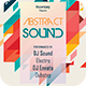 Abstract Sound Flyer Template - GraphicRiver Item for Sale