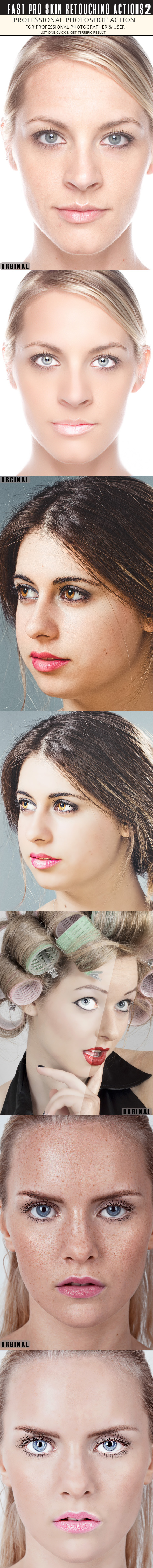 Fast Skin Retouching Actions 2 - Photo Effects Actions