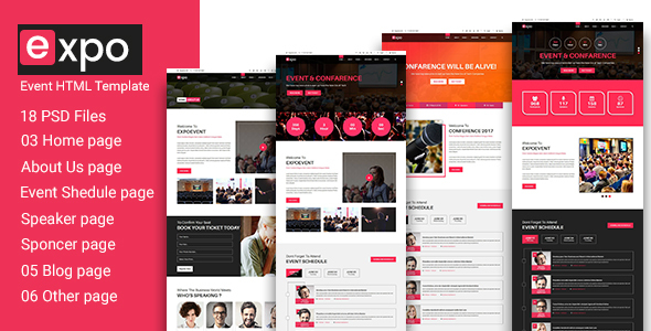 Expo – Event HTML 5 Template (Creative) images