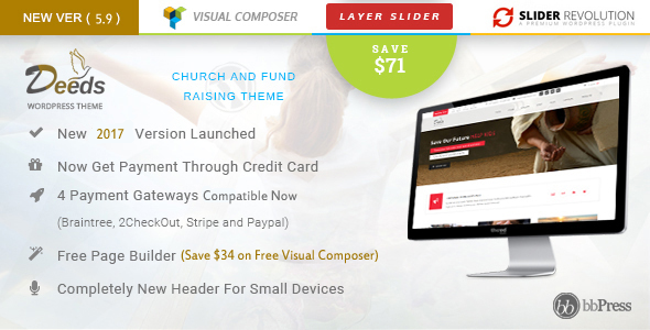 Deeds - Best Nonprofit Church Organization WP Theme - Churches Nonprofit