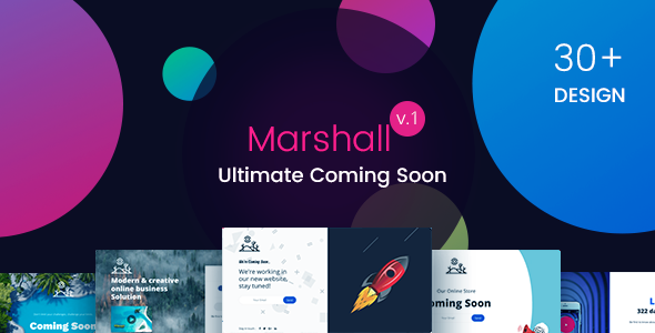 Marshall – The Ultimate Coming Soon Template