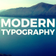 Modern Typography Slideshow - VideoHive Item for Sale