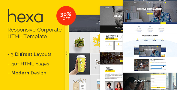 Hexa - Responsive Multipurpose Corporate/Creative HTML Template - Business Corporate