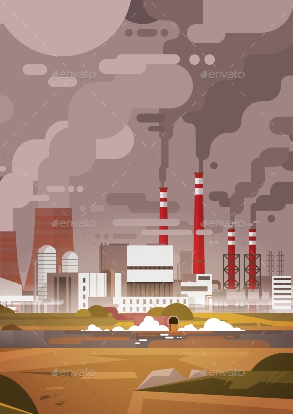 Nature Pollution Plant Pipe Dirty Waste Air - Industries Business