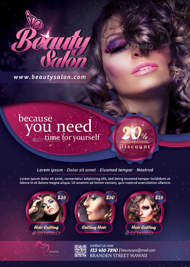 beauty salon flyer by diverter