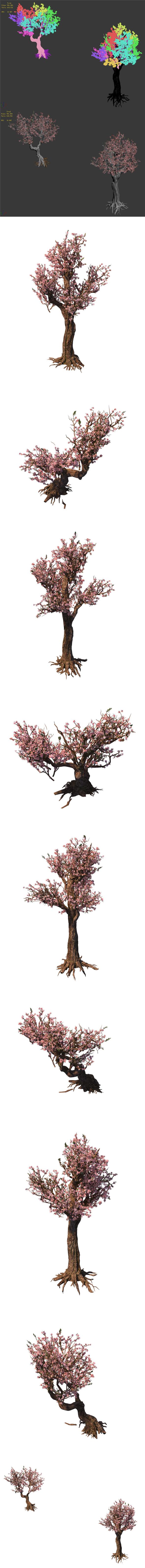 Tree - wonderful fantasy - peach tree 01 - 3DOcean Item for Sale