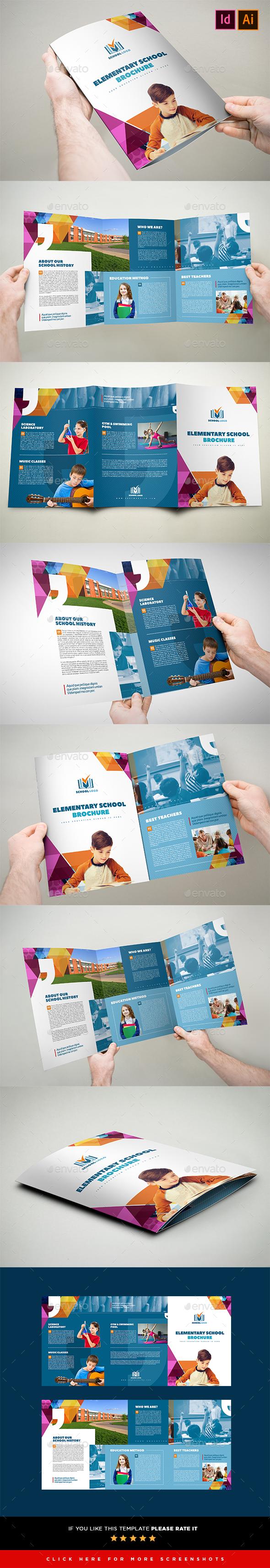 3xA4 Tri-Fold School / Multipurpose Brochure Template - Corporate Brochures