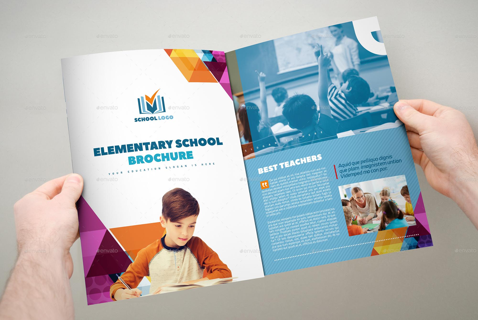 XA TriFold School Multipurpose Brochure Template By Interado - School brochure template
