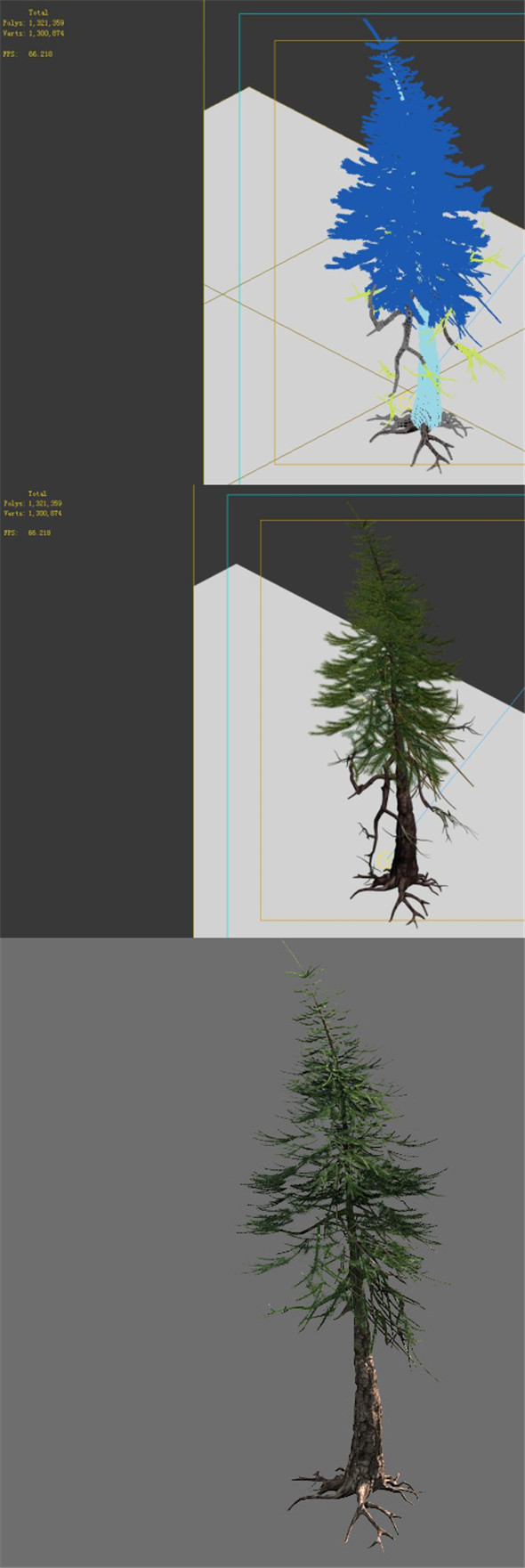 Game Model - Alpine - Pines 02 - 3DOcean Item for Sale