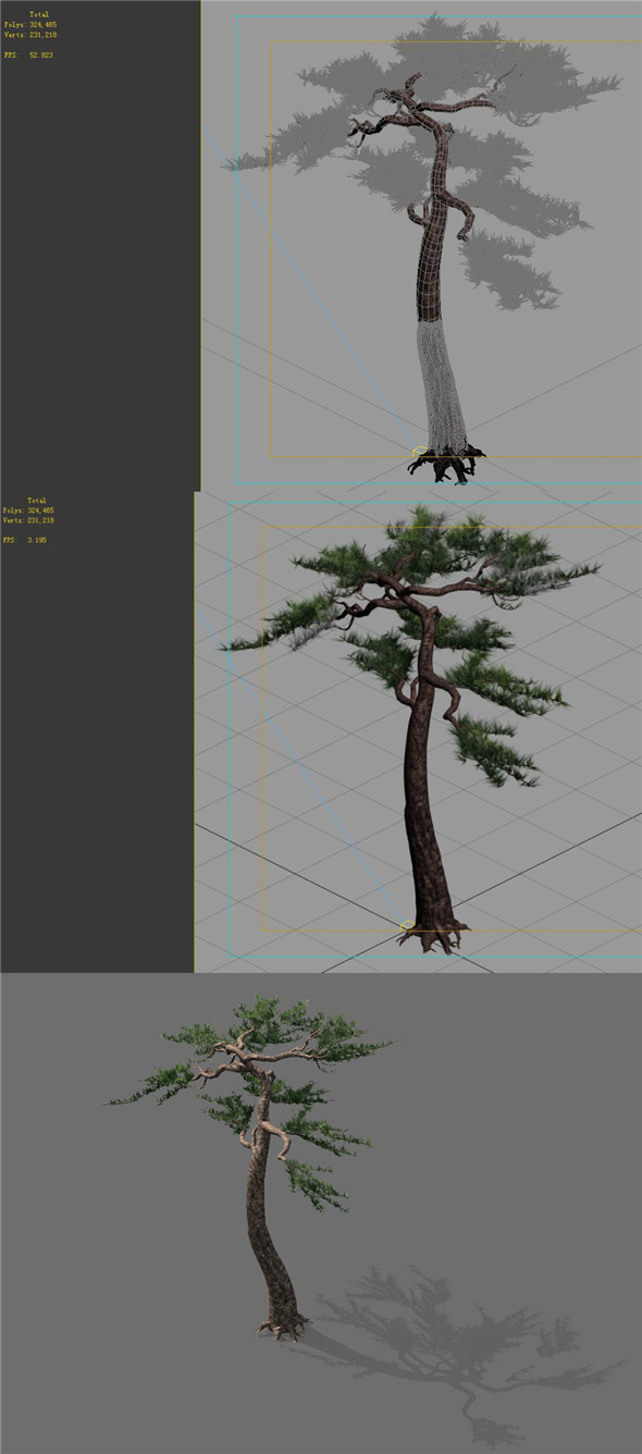 Game model - Alpine - Pine 03 - 3DOcean Item for Sale