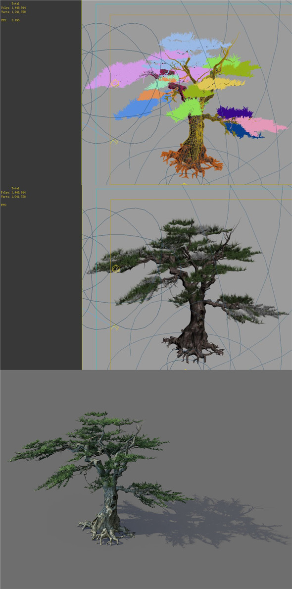 Game Model - Alpine - Pines 04 - 3DOcean Item for Sale