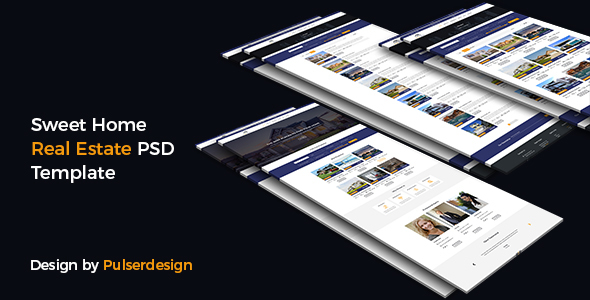 Sweet Home Real Estate-PSD Template - PSD Templates
