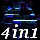 Glow Led Pixel - VJ Loop Pack (4in1) - VideoHive Item for Sale
