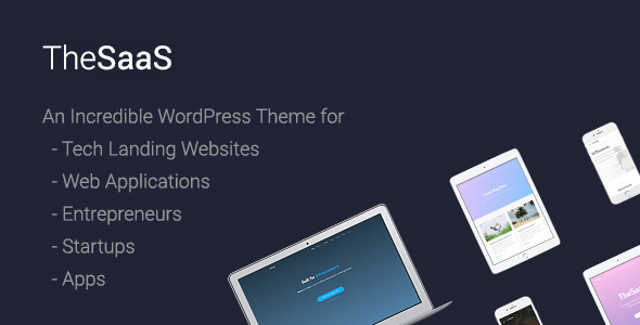 TheSaaS - Responsive SaaS, Software & WebApp WordPress Theme