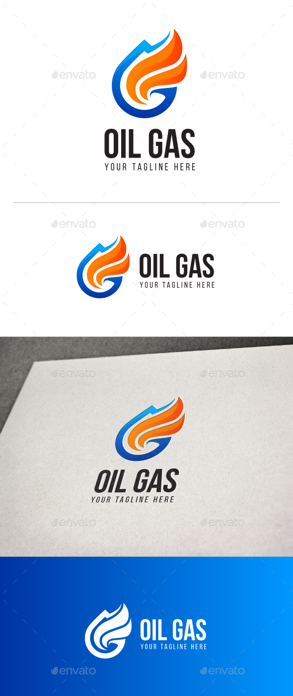 Oil Gas Logo - Nature Logo Templates
