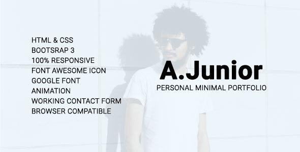 A.Junior Personal/Minimal/Portfolio Template