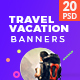 Travel / Vacation Web Ad Marketing Banners - GraphicRiver Item for Sale