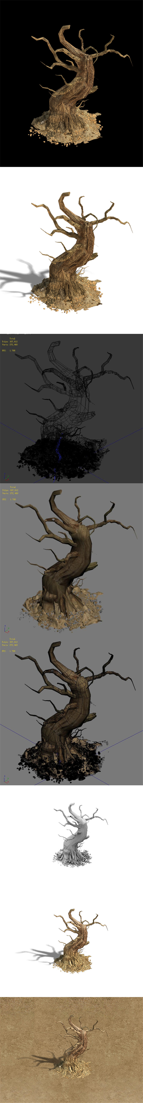 Barracks - desert Dead tree 05 - 3DOcean Item for Sale