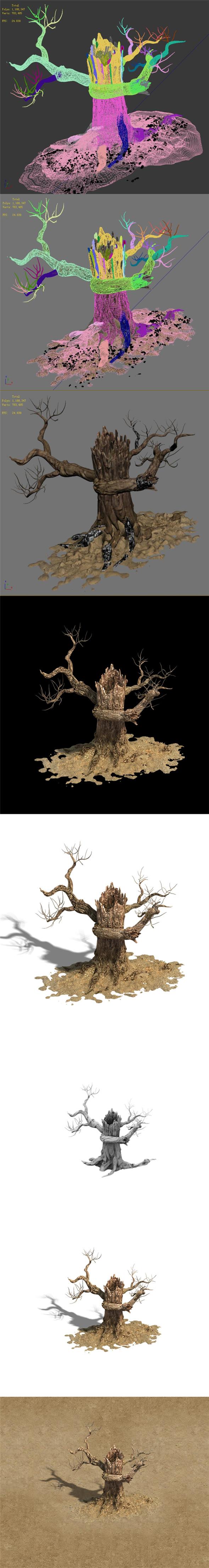 Barracks - desert Dead tree 06 - 3DOcean Item for Sale