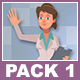 Female Doctor And Male Patient  Cartoon Characters Pack 1 - VideoHive Item for Sale