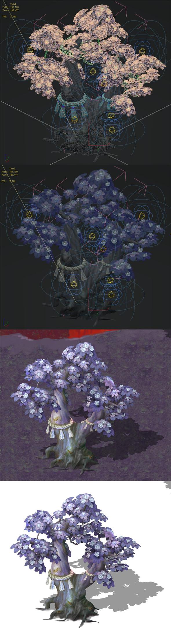 Cartoon hell - soul Flower tree 01 - 3DOcean Item for Sale
