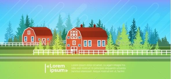 Farm House, Barn Building Field Farmland - Landscapes Nature