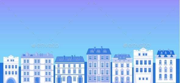 Big Modern City View Cityscape Silhouette Skyline - Buildings Objects