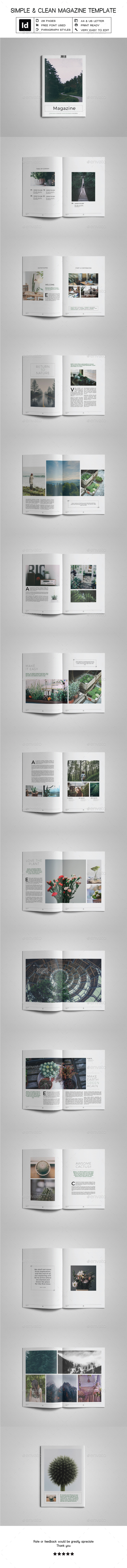 Simple & Clean Magazine Template VI - Magazines Print Templates