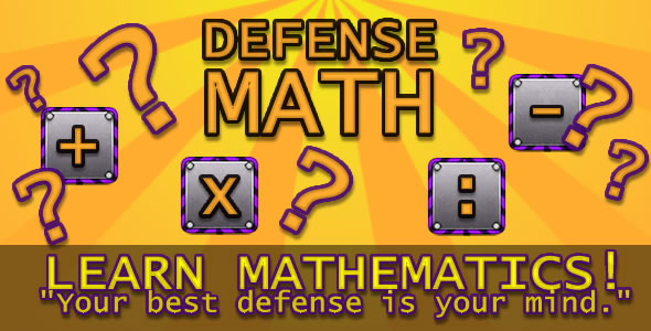 Defense Math - html5 (.capx) - CodeCanyon Item for Sale