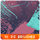 Watercolor Splatter Paint Photoshop Brushes #3