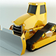 Low Poly Bulldozer - 3DOcean Item for Sale
