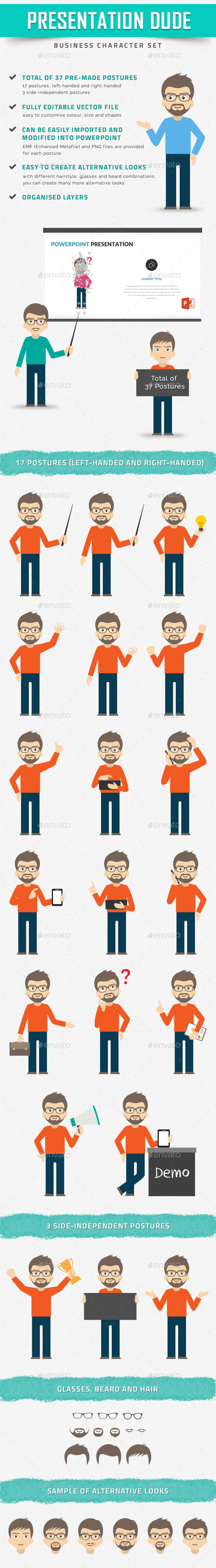 Presentation Dude – Business Character Set - People Characters