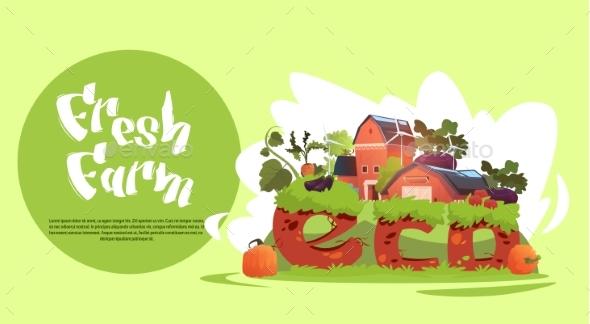 Farm Building Eco Farming Infographics Fresh - Animals Characters
