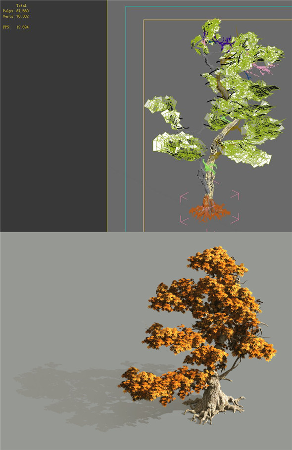 Game Model - Forest - Maple 2 - 3DOcean Item for Sale