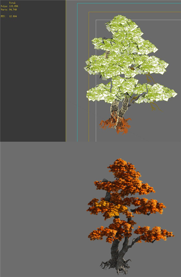 Game Model - Forest - Maple 4 - 3DOcean Item for Sale