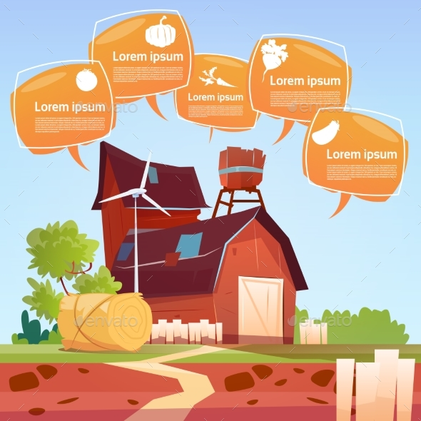 Farm Building Eco Farming Infographics Fresh - Animals Characters