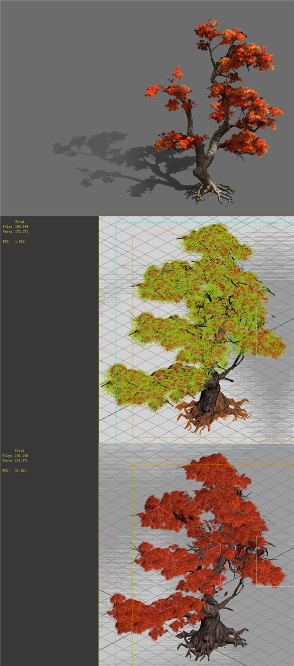 Game Model - Forest - Maple 5 - 3DOcean Item for Sale