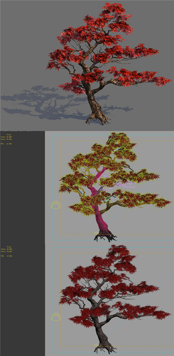 Game Model - Forest - Maple Tree 6 - 3DOcean Item for Sale