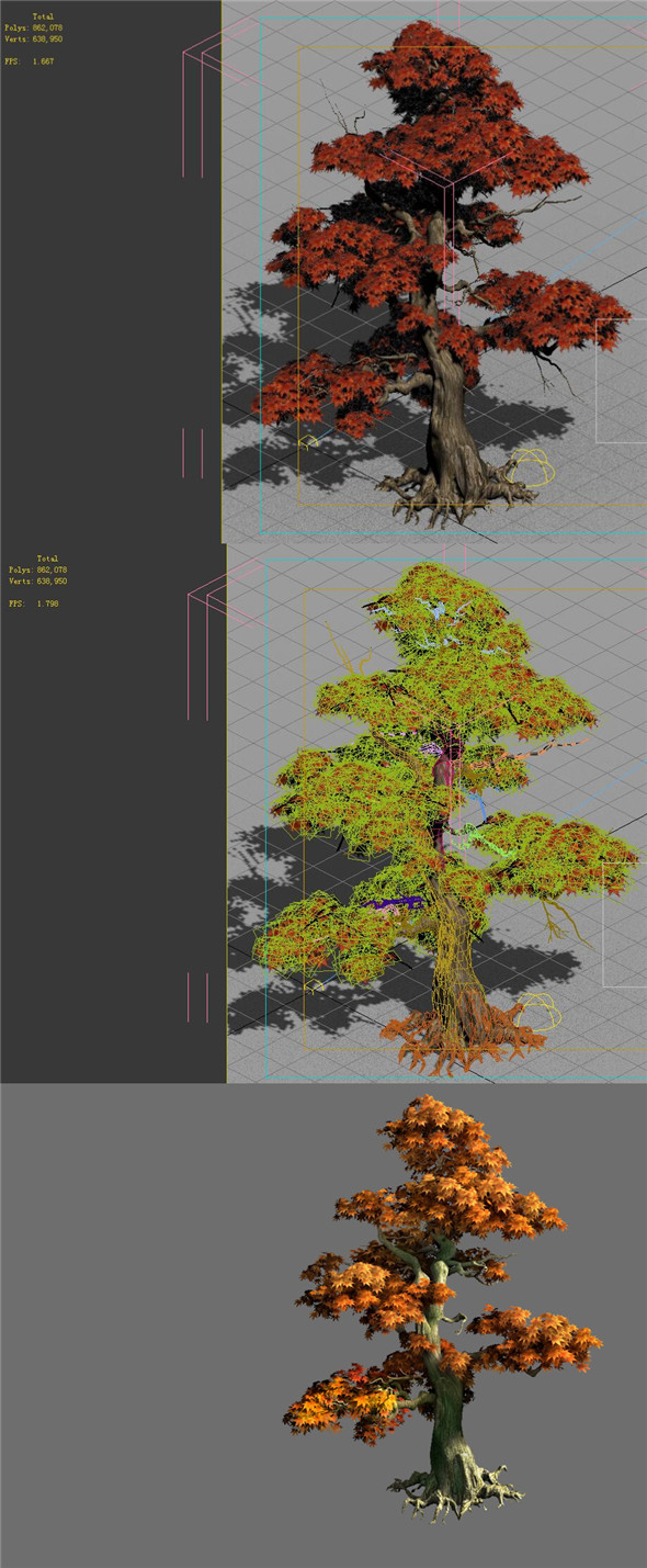 Game Model - Forest - Maple Tree 9 - 3DOcean Item for Sale
