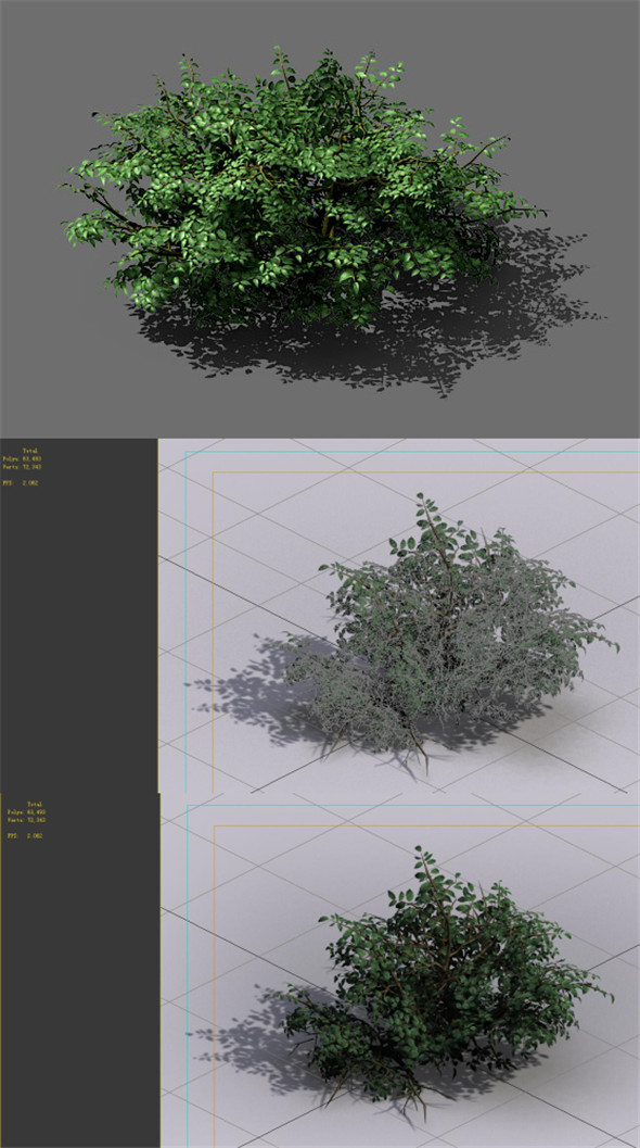 Game Model - Forest - Shrubs 01 - 3DOcean Item for Sale