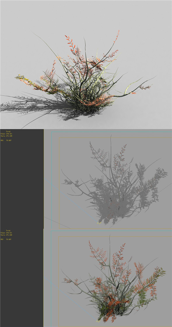 Game Models - Forest - Shrubs 06 - 3DOcean Item for Sale