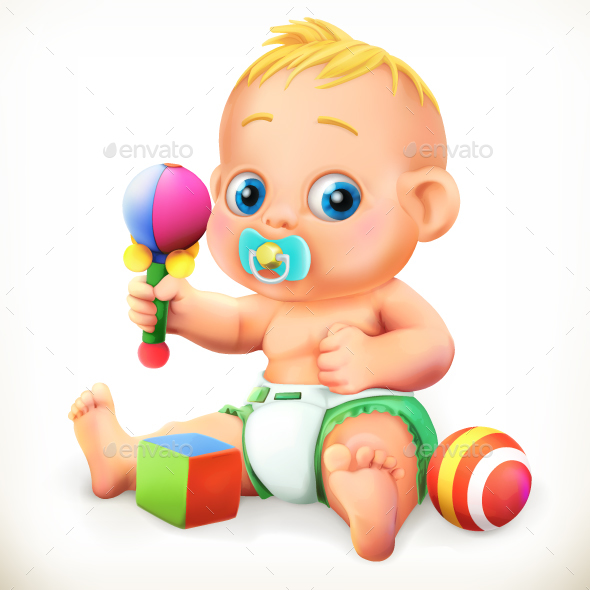 Baby and Toys - People Characters