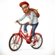 Man on a Bicycle Nulled