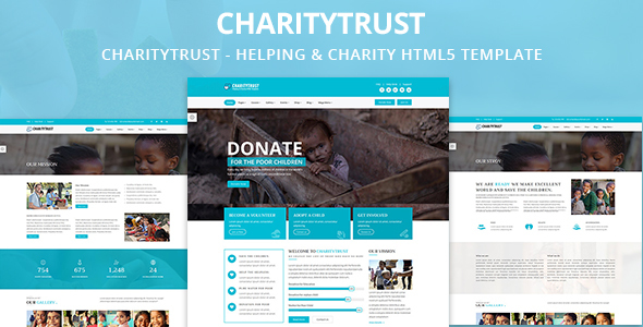 CharityTrust – Nonprofit, Crowdfunding & Charity HTML5 Template