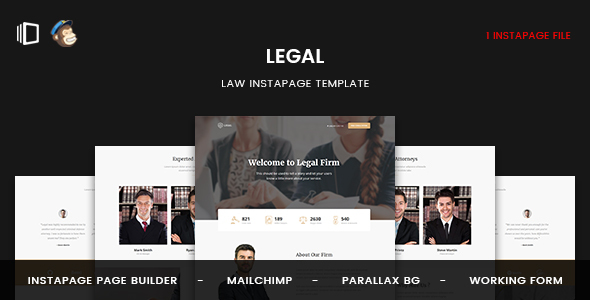 Legal - Law Instapage Template
