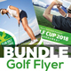 Golf Tournament Flyer Template Bundle